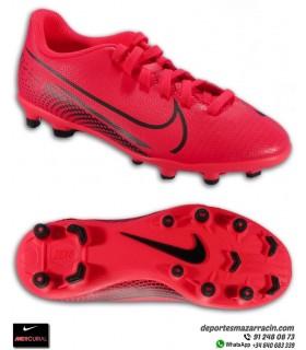Nike MERCURIAL VAPOR 13 Club Niño Rojo carmesi Bota Fútbol AT8161-606