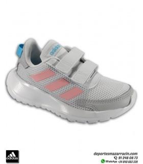 Zapatilla correr Niña ADIDAS TENSAUR RUN C velcro gris-rosa EG4148