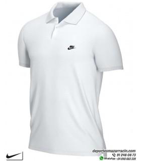 Polo NIKE Blanco Algodon Piqué Sportwear para Hombre CJ4456-100