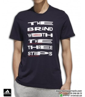 Camiseta ADIDAS grafica Hombre M DIST FNT Algodon Azul Marino FM6289