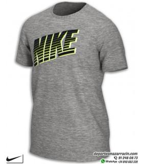 Camiseta grafica de NIKE BLOCK Algodon Hombre gris CK2777-063