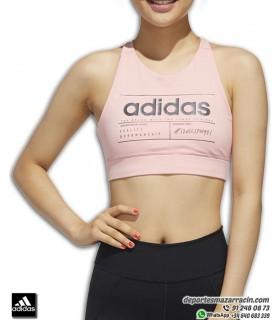 TOP ADIDAS W BB BRA Rosa-negro Sujetador deportivo Mujer