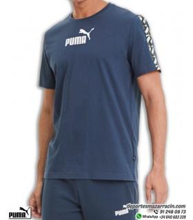 Camiseta PUMA Hombre AMPLIFIED TEE Algodon azul Marino 581384-43