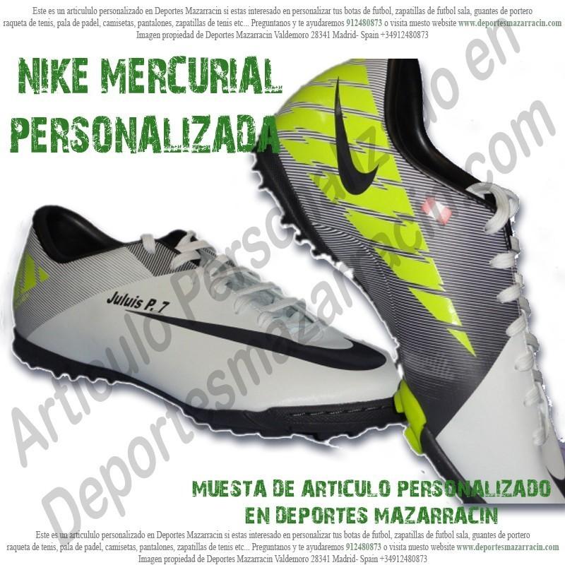 salario pecador Benigno  PERSONALIZAR botas de futbol NIKE MERCURIAL grabar estampar nombre numero  bandera escudo