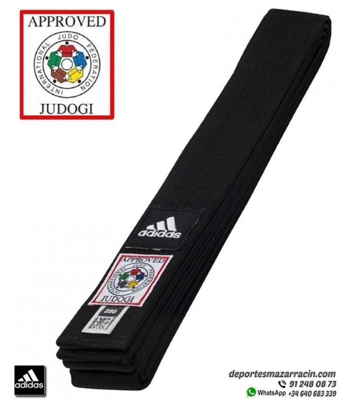 En Vivo Buscar Embotellamiento  Cinturón Judo adidas ELITE homologado IJF 2015 Negro