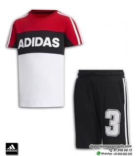 Conjunto Junior ADIDAS LK G SS SET Rojo-Blanco