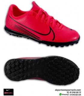 Bota de Fútbol turf MERCURIAL VAPOR 13 Club niños rojo carmesi Nike AT8177-606