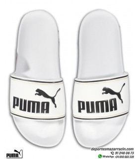Chancla Puma LEADCAT Blanco-Negro-Dorado