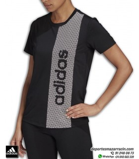 Camiseta Mujer ADIDAS D2M BRAND Aeroready Negro