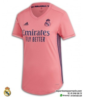 Camiseta REAL MADRID 2020-2021 Rosa Mujer