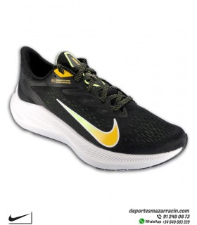 Zapatilla Nike ZOOM WINFLO 7 Running Negra