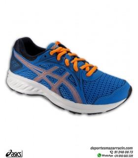 Zapatilla Running Junior ASICS JOLT 2 Azul-Naranja