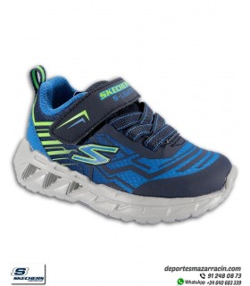 Skechers Niño SLIGHTS MAGNA con luces Azul