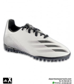 adidas X Ghosted 4 Niño Bota Fútbol Turf Blanca