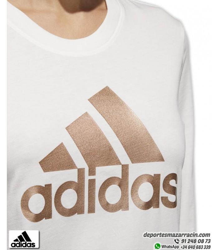 linda infierno Gladys  ▷ Camiseta Mujer ADIDAS Manga Larga en Blanco | Deportes Mazarracin