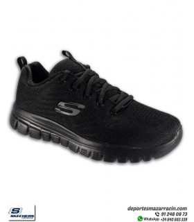 Skechers Mujer GRACEFUL Get Connected Negro
