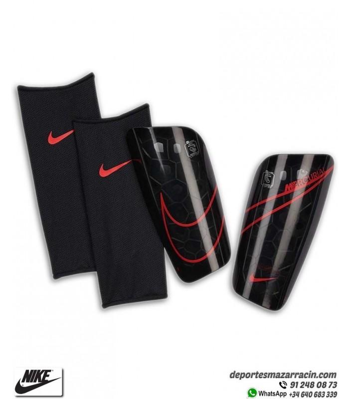 Alivio navegación Redundante  ▷ Espinillera Nike MERCURIAL LITE Negras y Rojas   Deportes Mazarracin