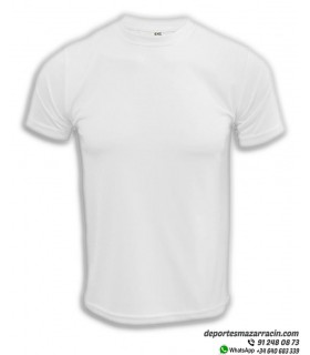 Camiseta Transpirable Deporte COMPETICION Blanco