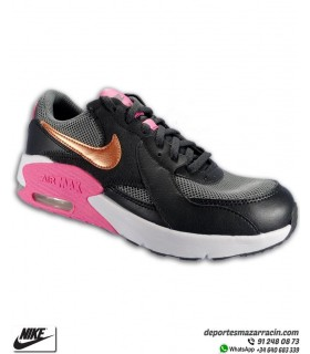 Nike AIR MAX EXCEE Negro-Dorado-Rosa