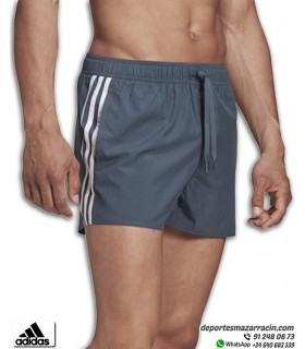Bañador Short adidas CLX 3Stripes Azul Oscuro