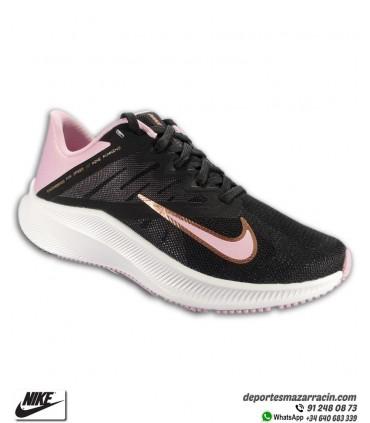 Nike QUEST 3 Zapatilla Running Mujer Negra-Dorado