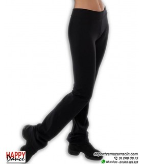 Malla Larga Mujer Recto Cintura Cruzada Negra 1458-GS13