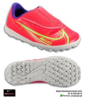 Nike MERCURIAL VAPOR 14 Club Velcro Fútbol Turf Rojo