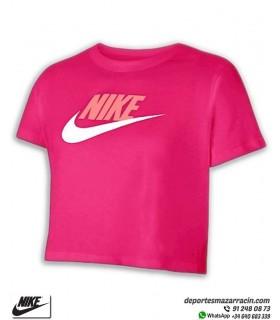 Camiseta Corta NIKE Sportwear Tee Crop Rosa DA6925-615