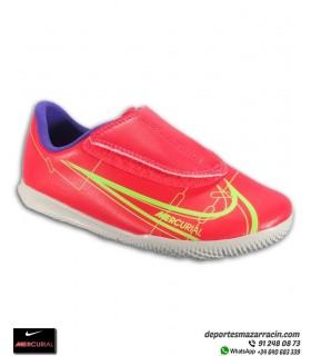Nike MERCURIAL VAPOR 14 Club Velcro Fútbol Sala Rojo