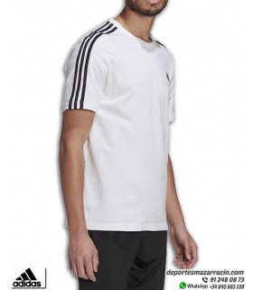 Camiseta ADIDAS Essentials 3 Stripes Blanco-Negro GL3733