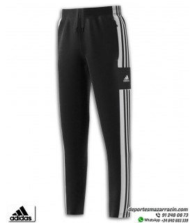 Pantalón Chándal Adidas Squadra 21 junior Negro-Blanco
