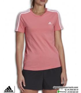 Camiseta Mujer ADIDAS ESS Slim 3 Stripes Rosa