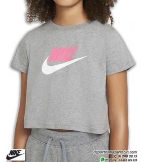 Camiseta Corta NIKE Sportwear Tee Crop Gris