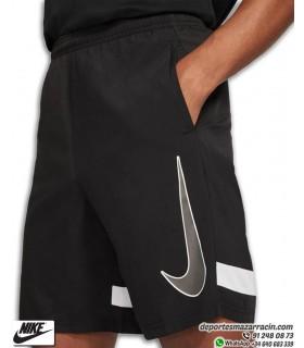 Pantalón Corto NIKE Dri-FIT Academy Woven Short Negro-Blanco
