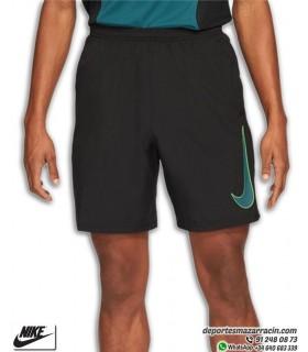 Pantalón Corto NIKE Dri-FIT Academy Woven Short Negro-Verde