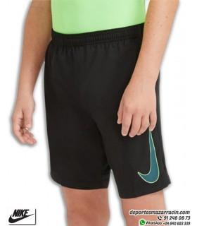 Pantalón Corto NIKE Dri-FIT Academy Junior Short Negro-Verde