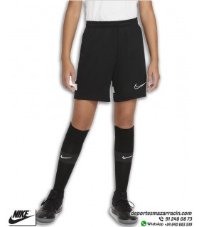 Pantalón Corto NIKE Dri-FIT Academy Knit Junior Short Negro-Blanco