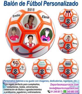 Balón Futbol con imágenes y textos Nike Strike