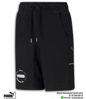Pantalón Corto PUMA Alpha Jersey Shorts Junior Negro