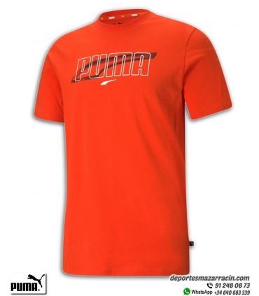 Camiseta PUMA REBEL TEE Roja Hombre