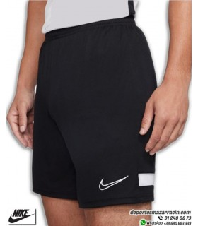 Pantalón Corto NIKE Dri-FIT Academy Knit Soccer Short Negro-Blanco