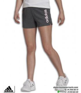 Pantalón Corto Mujer ADIDAS Essential Linear Short Gris-Rosa