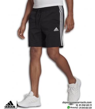 Pantalón Corto ADIDAS 3 STRIPES Short Algodón Negro