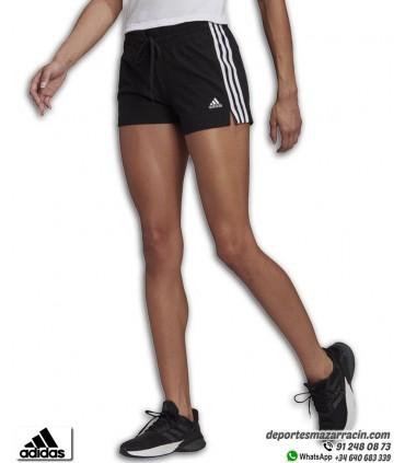 Pantalón Corto Mujer ADIDAS Essential Slim 3 stripes Negro