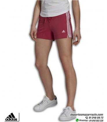 Pantalón Corto Mujer ADIDAS Essential Slim 3Stripes Rosa