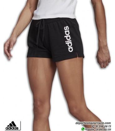 Pantalón Corto Mujer ADIDAS Essential Linear Short Negro-Blanco