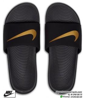 Chancla Nike KAWA SLIDE Negro-Dorado 819352-003