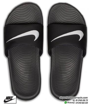 Chancla Nike KAWA SLIDE Negro-Blanco 819352-001