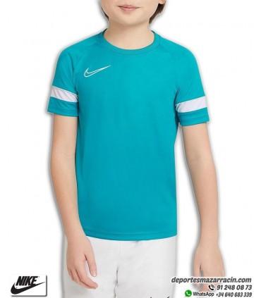 Camiseta NIKE Dri-FIT Academy Verde Agua Junior