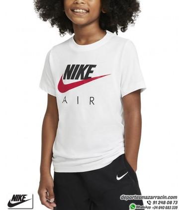 Camiseta Niño NIKE AIR Classic Logo Blanco-Negro-Rojo